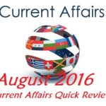 <b>Current Affairs for CLAT</b> : August 2016